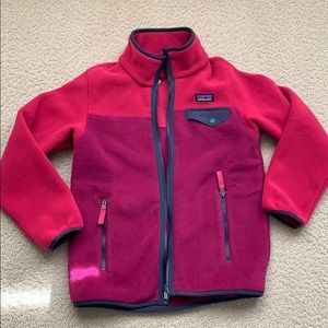 NWT Girls Patagonia full-zip fleece, Size S